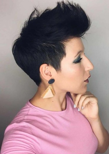 Modern Short Black Pixie Haircuts for 2018