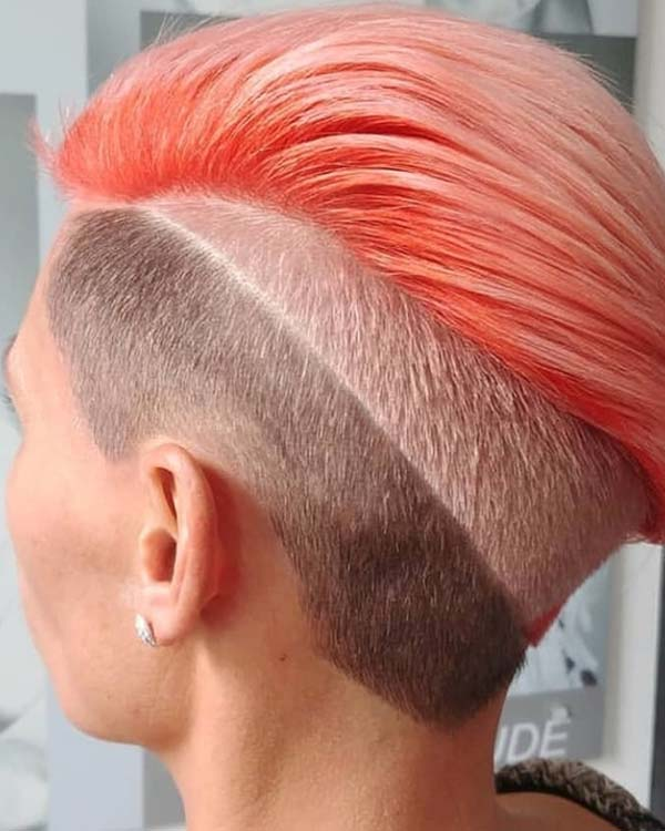 Modern Undercut Short Haircuts & Color Combo in 2018