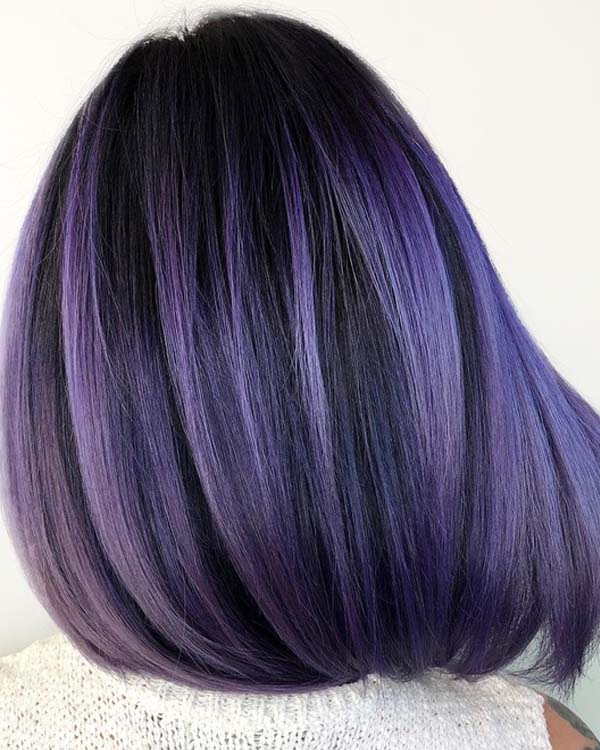 Most Amazing Purple Hair Color Shades in 2018