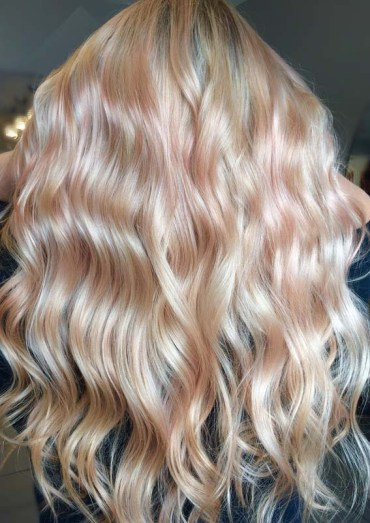 Perfect Rose Gold with Blonde Shades Of Hair Colors in 2018