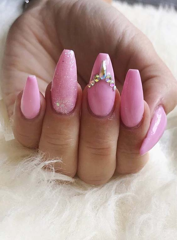 Pink Nail Art Designs and Images in 2018