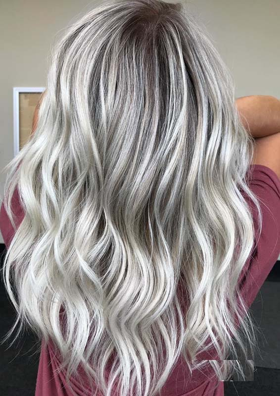 Pretty Platinum Blonde Hair Colors & Hairstyles for 2018