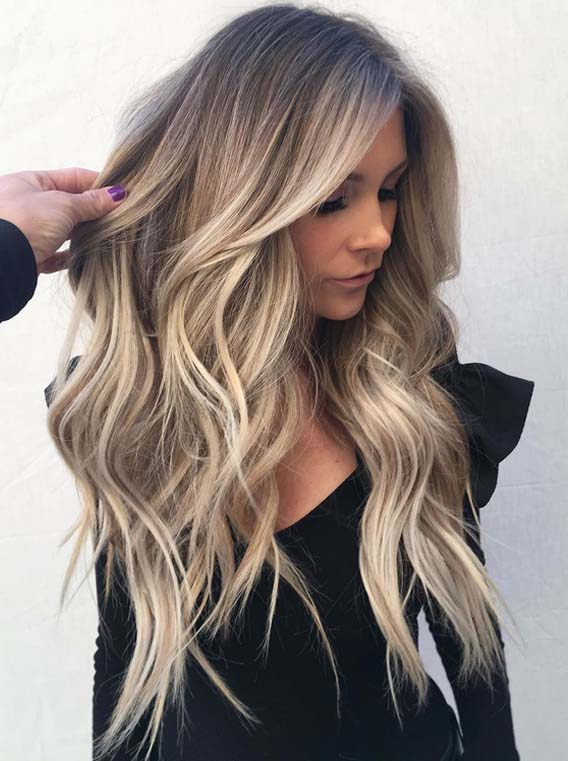gorgeous sunkissed blonde balayage hairstyles for 2018
