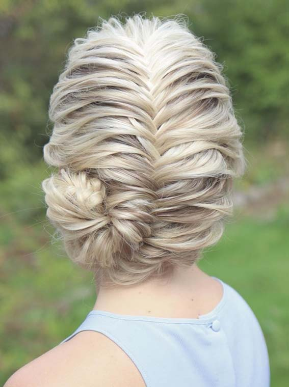 Superb Fishtail Braids & Bun Styles in 2018