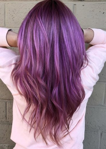 Wonderful Purple Hair Color Trends in 2018