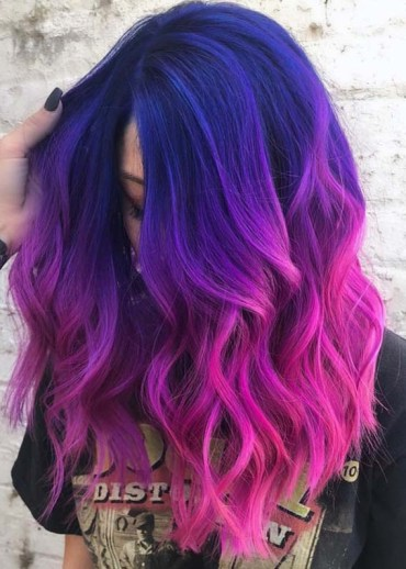 Awesome Pulp Riot Blue To Purple Colors For Medium Length Hair in 2018
