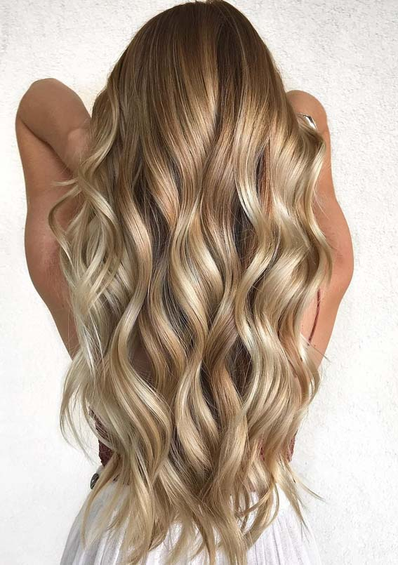 Most Amazing Golden Blonde Long Hairstyles Trends In 2018