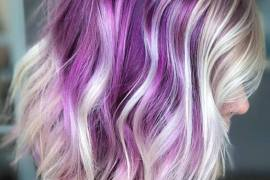 Amazing Purple & white Hair Color Combination for 2018