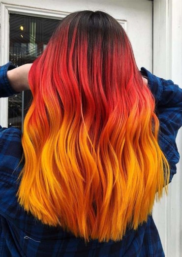 Red Orange Hair Color Combinations in 2018