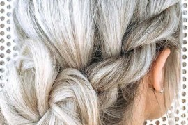 Rope Braids with Messy Bun Hairstyles in 2018