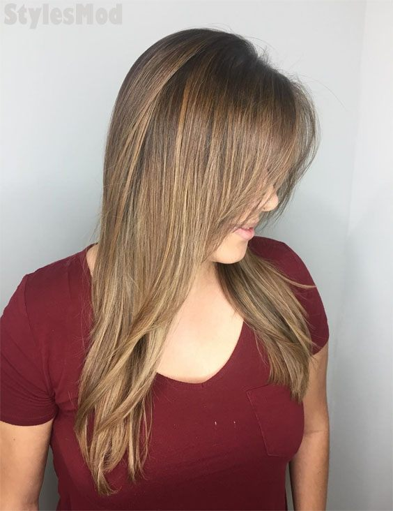 Autumn Beige Balayage Hair Color Trends for 2019