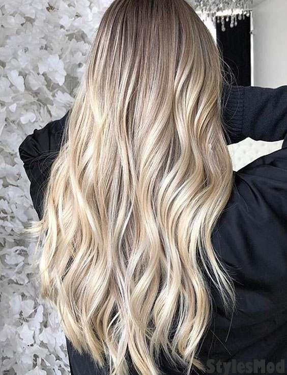 Brightest Look of Balayage Hairstyle for 2018-2019