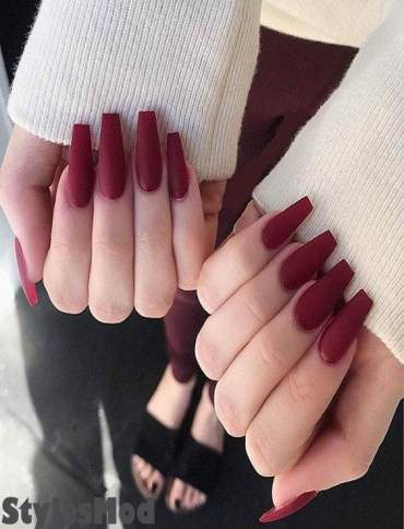 Excellent Look of Red Nail Styles & Ideas for Long Nails In 2019