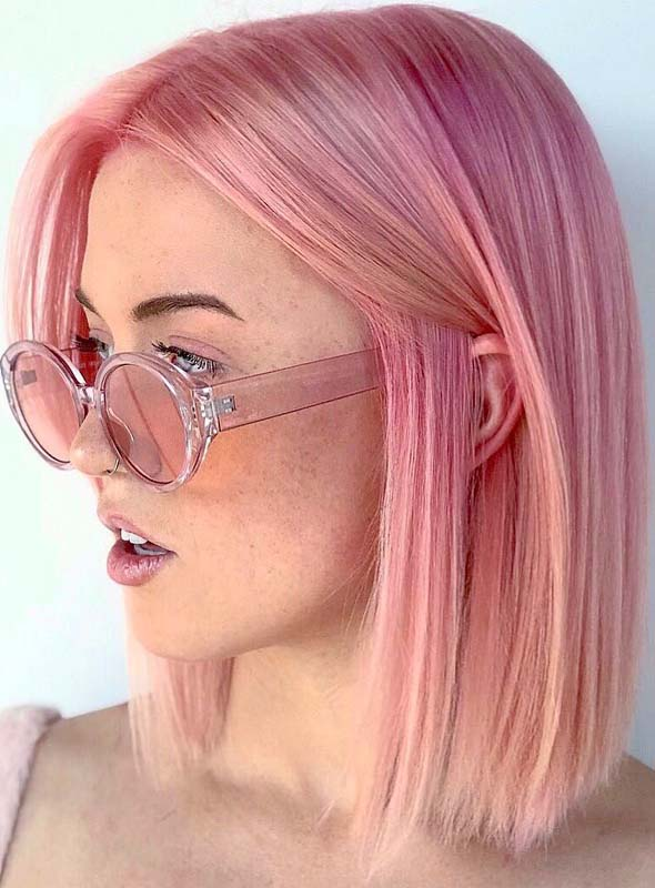 Fantastic Pink Hair Color Ideas for Bob Cuts in 2019