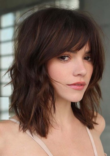 Medium Length Haircuts with Bangs in 2019