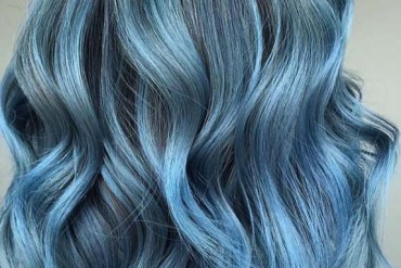 Smokey Blue Balayage Hairstyles for 2018-2019
