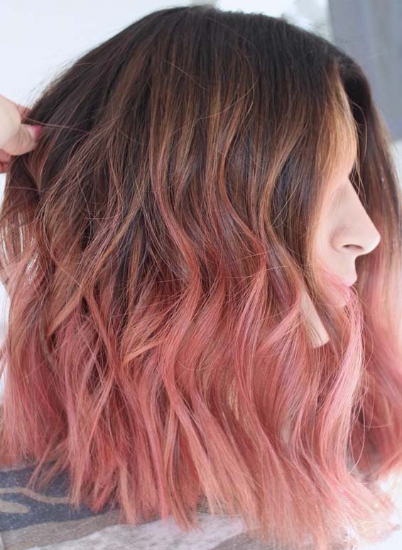 Soft Natural Rose Gold Haircuts for 2019