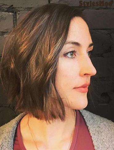 Super Cute Chin Length Bob Haircuts for Women