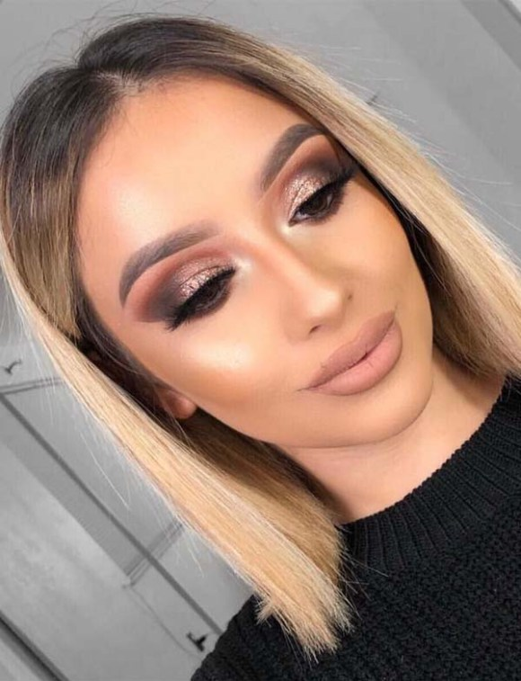 Bronze Smokey Eyes & Hair Color Ideas for 2018