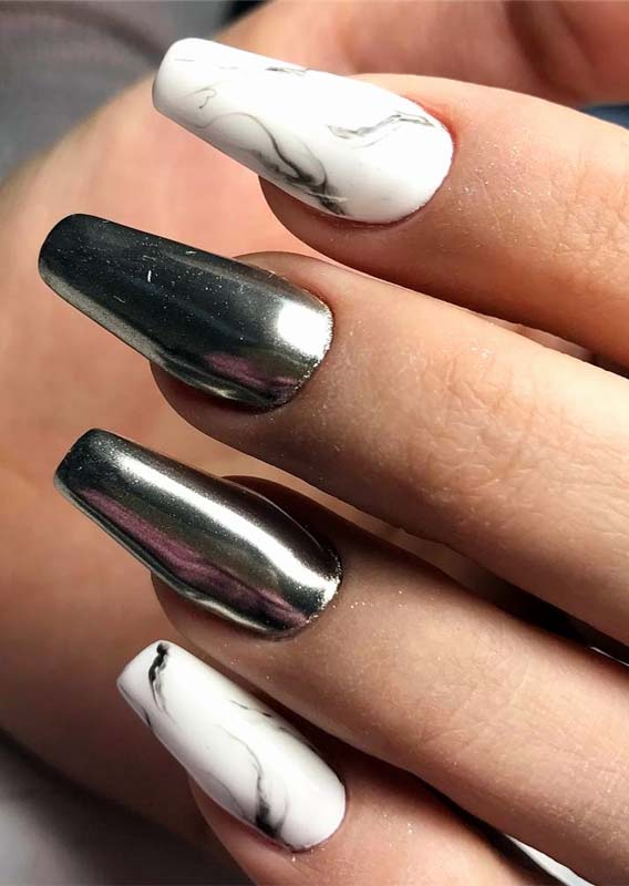 Coffin Nail Designs for Women 2019