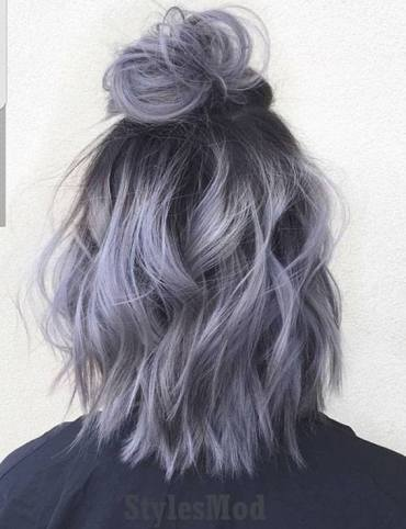 Easy Top Knot Bun Hairstyle for Short Hair In 2018