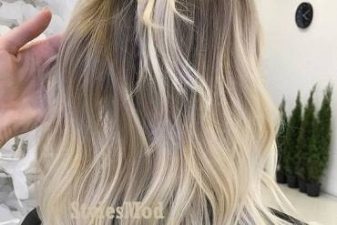 Elegant Hair Color Shades & Knot Style for 2019