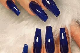 Excellent Glossy Dark Blue Nail Polish & Style Tips for 2019