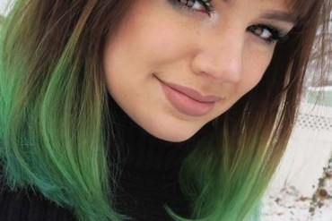 Green Hair Color Shades & Highlights in 2019