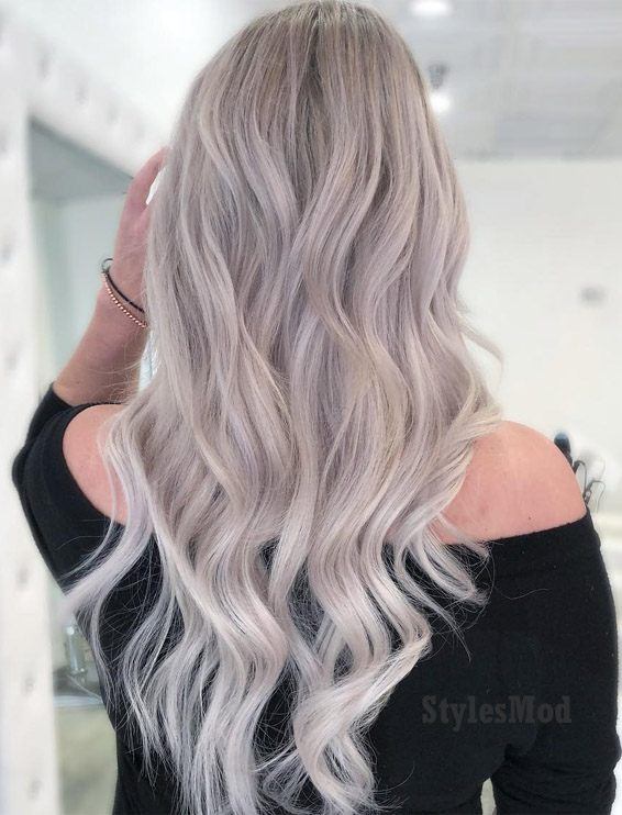 Perfect Cream Natural Ash Blonde Hairstyles for 2019