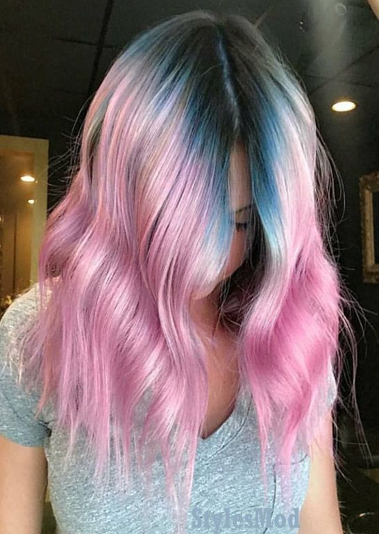 Prettiest Blue & Pink Hair Color Combination for Teenage Girls