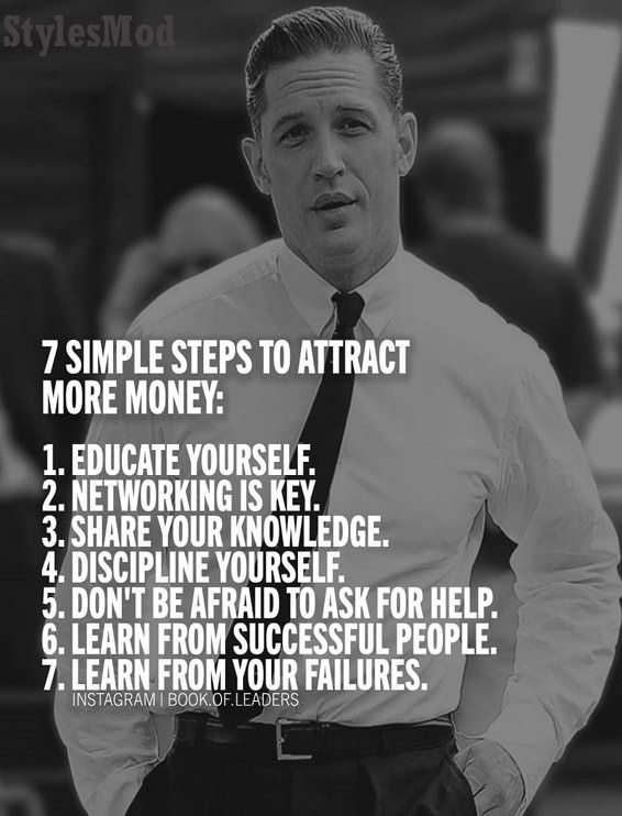 7 Simple Steps to Attract More Money - Money Quotes