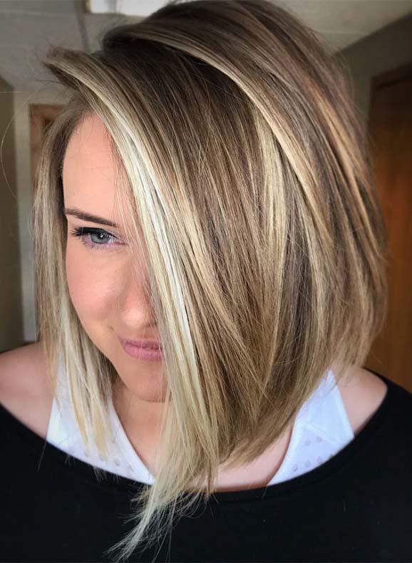 A-line Bob Balayage Haircuts for 2019