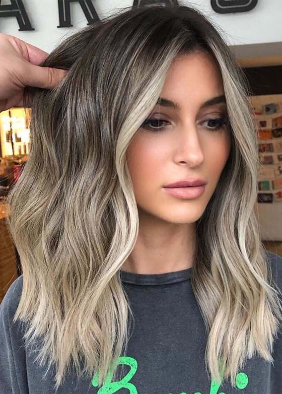 Balayage Shadowroot Babylights Hair Color Ideas for 2019
