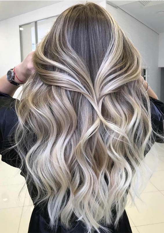 Best Toasted Coconut Hair Colors for Long Hairstyles for 2019
