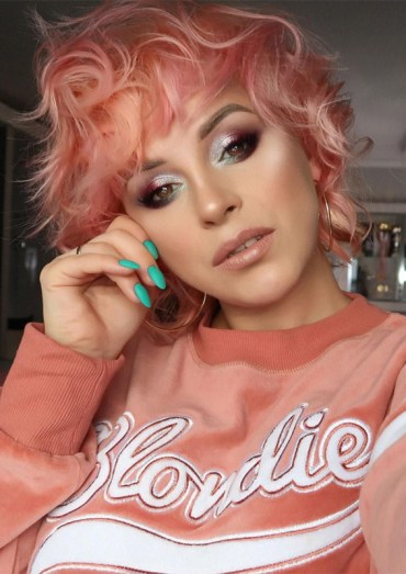 Cutest Meet Pink Champagne Hair Colors for Short Hairstyles for 2019