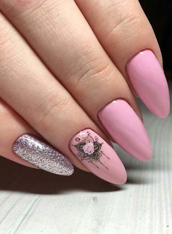 Grate Ideas Of Pink Nails for Celebrities in 2019