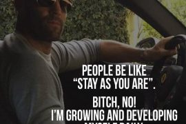 People Be Like Stay As you Are - Myself Quotes for Every Men's