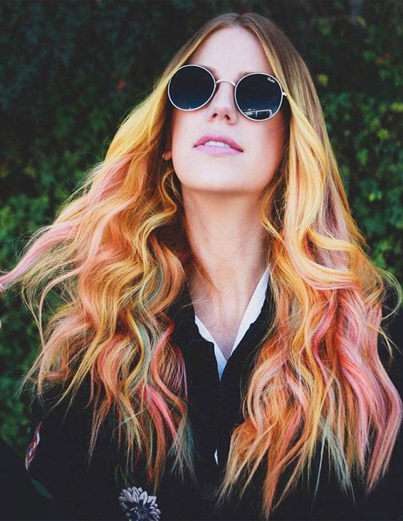 Beautiful Sunrise Hair Color Highlight & Shades for 2019