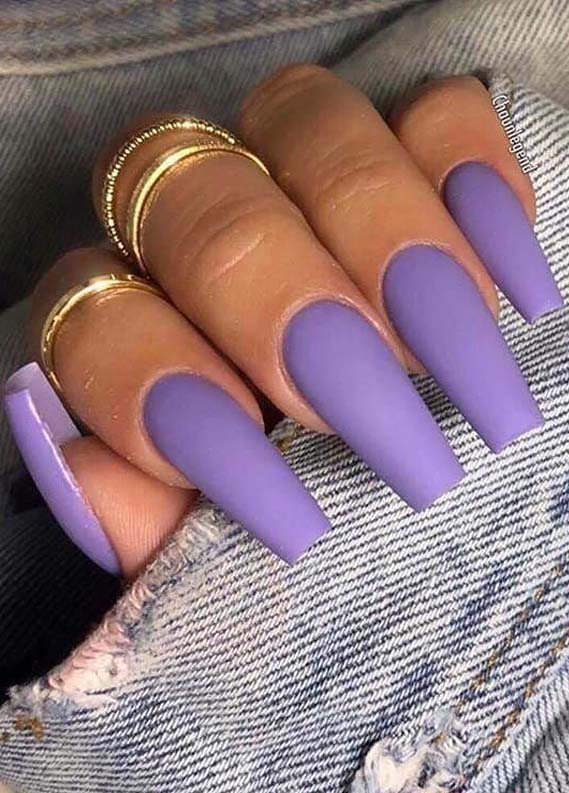Brilliant Purple Nail Arts You Must Try in 2019