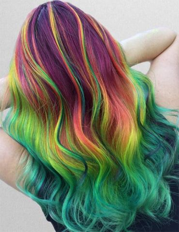 Coolest Rainbow Hair Color Styles To Rock In 2019