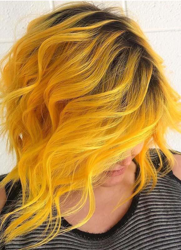 Fantastic Mermaid Yellow Hair Colors Shades For 2019
