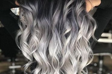 Black & Ash Blonde Hair Color Styles for Long Hair