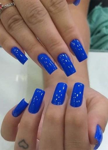 Blue nail polish shades for Women 2019