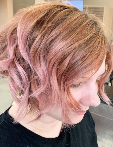 Pink Short Haircuts & Hairstyles for 2019