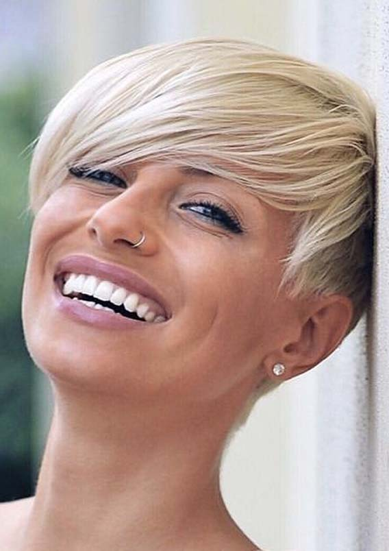 Pixie haircut for round face in 2019