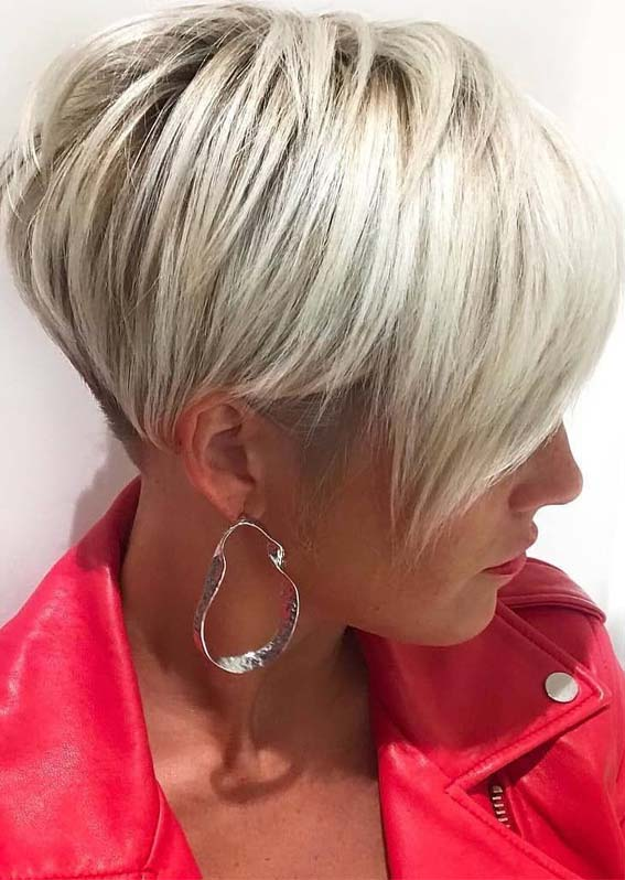 Pixie haircuts with blonde highlights in 2019