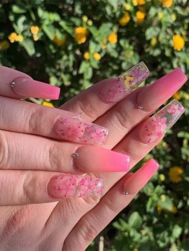 Gorgeous Metalic Pink Spring Nail Art Designs in 2019