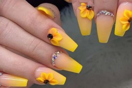 Pretty Ideas Of Yellow Nail Arts in 2019