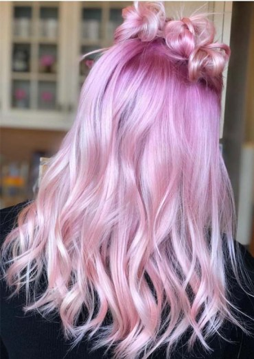 Obsessed Pink Hair Colors and Highlights in 2019