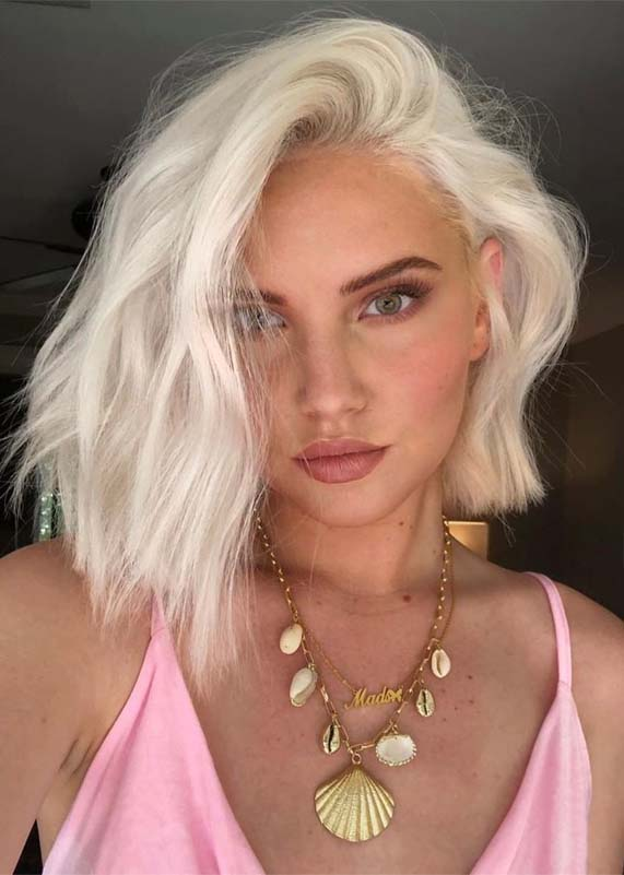 coolest blonde hair colors and haircuts for 2019